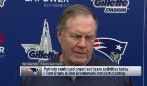 Belichick on Brady's absence from Pats' OTAs: 'I'm not going to talk about the people that aren't here'