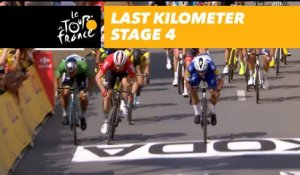 Last kilometer / Flamme rouge - Étape 4 / Stage 4 - Tour de France 2018