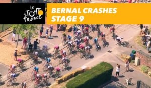 Bernal chute dans le peloton / crashes in the peloton ! - Étape 9 / Stage 9 - Tour de France 2018