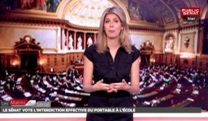 le Sénat vote l'interdiction effective du portable à l'école - Les matins du Sénat (17/07/2018)