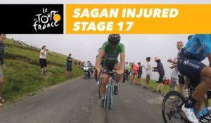 Sagan dans le Col du Portet après sa chute / Sagan in Col du Portet following his crash - Étape 17 / Stage 17 - Tour de France 2018