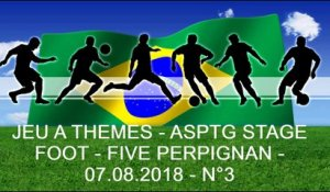 JEU A THEMES - ASPTG STAGE FOOT - FIVE PERPIGNAN - 07.08.2018 - N°3