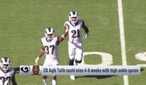 Rapoport: Aqib Talib could miss four to six weeks with injury