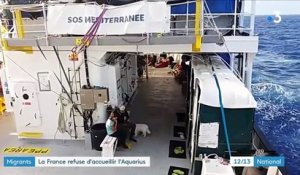 "Migrants : la France refuse d'accueillir l'""Aquarius"""