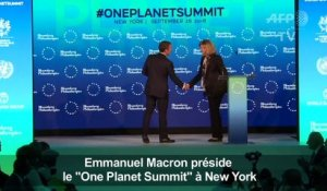 "Emmanuel Macron préside le ""One Planet Summit"" à New York"