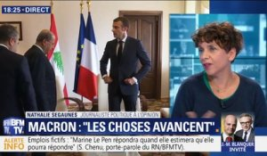 "Emmanuel Macron: ""Les choses avancent"""
