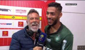 La réaction de Denis Bouanga dans le Late Football Club