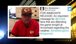 Eric Stonestreet delivers Twitter PSA to help Chiefs fans turn up the volume in Arrowhead Stadium
