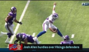 Fans react to Josh Allen's hurdle of Anthony Barr | The Checkdown