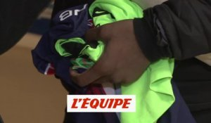 Thuram avec le maillot de Buffon - Foot - L1 - Guingamp
