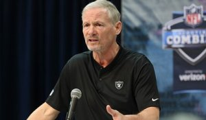 Mayock takes combine podium for first time as Raiders GM