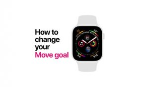 Apple Watch Series 4 How to change your Move goal