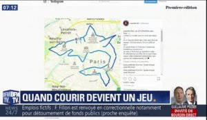 "Ces coureurs s'amusent à réaliser un dessin durant leur jogging, on appelle ça le ""GPS drawing"""
