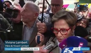 Affaire Vincent Lambert : les parents mobilisés devant l'hôpital de Reims