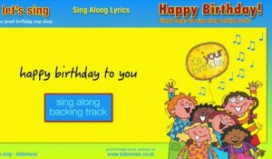 Kidzone - Happy Birthday To You! - Sing Along Backtrack