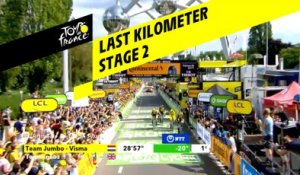 Last kilometer / Flamme rouge - Étape 2 / Stage 2 - Tour de France 2019