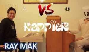 Marshmello ft. Bastille - Happier Piano Duet by Ray Mak ft. Marshmello