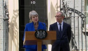 Theresa May fait ses adieux au 10 Downing Street