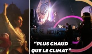 À Paris, le rassemblement d'Extinction Rebellion a des airs de Techno Parade