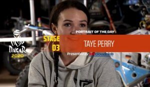 Dakar 2020 - Stage 3 - Portrait of the day - Taye Perry