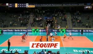 La France battue, mais qualifiée - Volley - TQO (H)