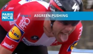 Paris-Nice 2020 - Étape 4 / Stage 4 - Asgreen pushing