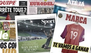 Le monde du football stoppé net, l'Euro 2020 sur la sellette