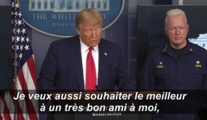 "Trump souhaite un prompt rétablissement à son ""ami"" Boris Johnson"
