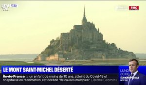 Confinement: le Mont-Saint-Michel coupé du monde
