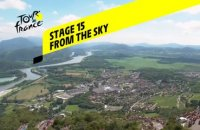 Tour de France 2020 - Étape 15 vue du ciel / Stage 15 from the sky : Lyon - Grand Colombier