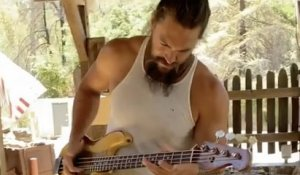 Jason Momoa jams Red Hot Chili Peppers' 'Higher Ground' on his new bass