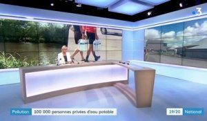 Pollution : 100 000 personnes privées d'eau potable