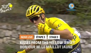 #TDF2020 - Étape 3 / Stage 3 - Bonjour monsieur le Maillot Jaune / Kisses from the yellow jersey