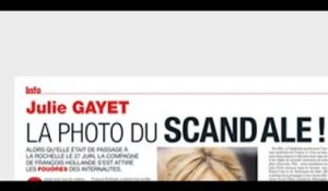 Julie Gayet  anéantie  #8211; la photo du scandale