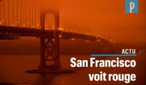 San Francisco plongée sous un ciel rouge à cause des incendies