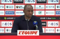 Vieira : «Un bon point de pris mais de la frustration» - Foot - L1 - Nice