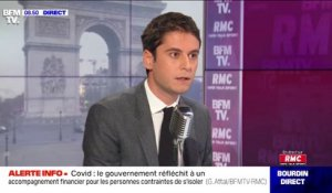 "Covid-19: Gabriel Attal affirme que la situation ""ne s'améliore plus"" en France"