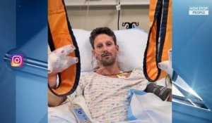Romain Grosjean miraculé d'un accident de F1, les photos chocs de sa main brûlée