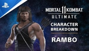Mortal Kombat 11 Ultimate - Rambo Character Breakdown | PS Competition Center