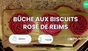 Bûche aux biscuits rose de Reims