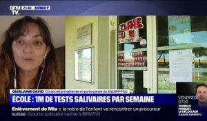 Ecole: Un million de tests salivaires par semaine - 21/04