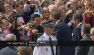 Obama arrive en Normandie