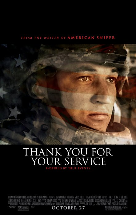 Thank You For Your Service : Affiche