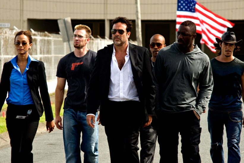 The Losers : Photo Chris Evans, Columbus Short, Idris Elba, Jeffrey Dean Morgan, Óscar Jaenada