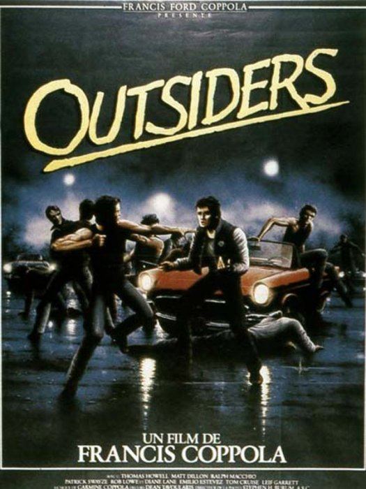 Outsiders : Affiche Francis Ford Coppola