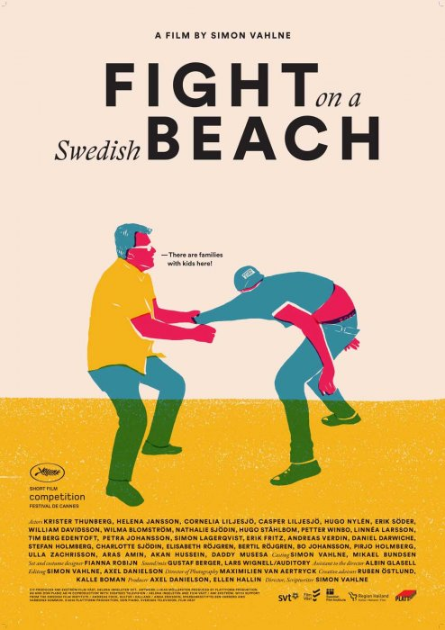 Fight on a swedish beach : Affiche