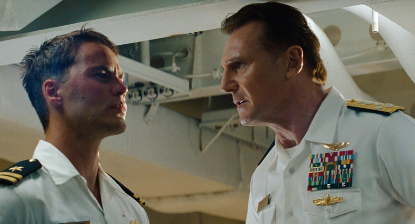 Battleship : Photo Liam Neeson, Peter Berg, Taylor Kitsch