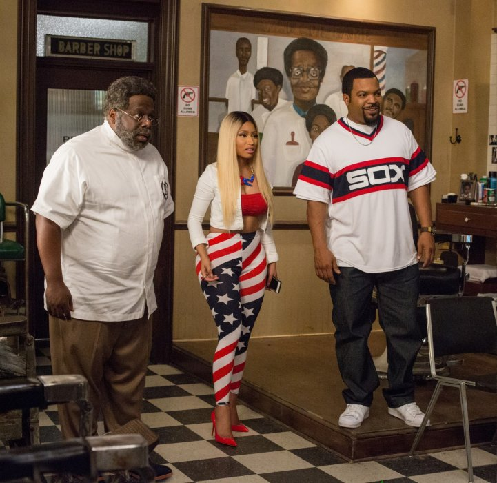 Barbershop: The Next Cut : Photo Cedric The Entertainer, Ice Cube, Nicki Minaj