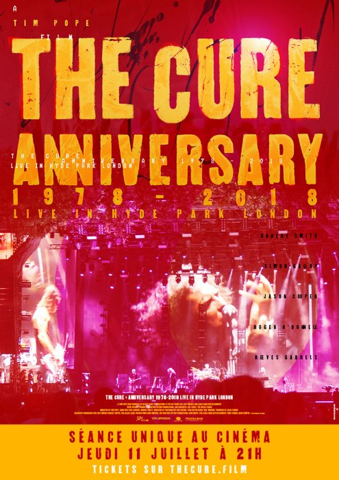 The Cure - Anniversary 1978-2018 Live in Hyde Park London : Affiche