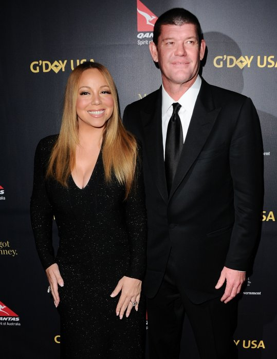 Mariah Carey et James Packer au gala G Day à Los Angeles, le 28 janvier 2016.